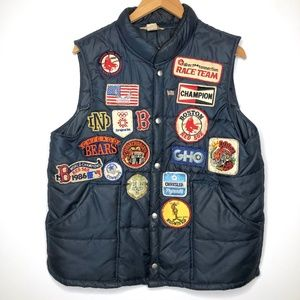 Vintage 80s Puffer Vest w/ Patches